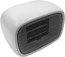 Nishore Aquecedor de ar quente 500 W Mini aquecedor portátil de mesa para escritório em casa Aquecedor de escritório branc...