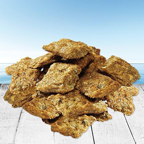 Schecker 1x250g Lachshappen aus 85% reinem fangfrischem Lachs - für Hunden mit Allergien und Magen - Darmproblemen geeignet