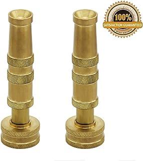 Twinkle Star Heavy-Duty Brass Adjustable Twist Hose Nozzle, 2 Pack, TWIS3432