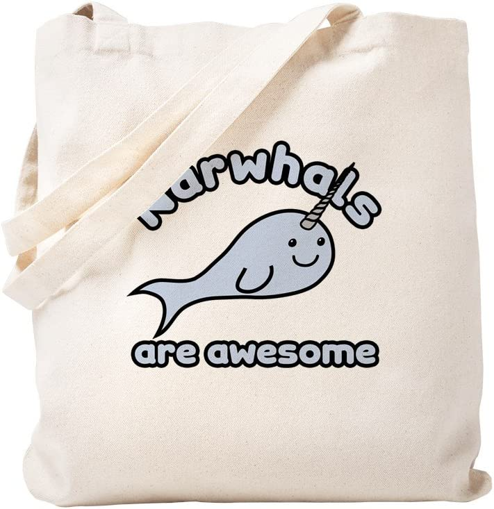 CafePress Narwhals Now on sale Colorado Springs Mall Are Awesome Tote Bag Canvas Natural