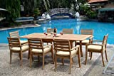 WholesaleTeak New 9 Pc Luxurious Grade-A Teak Dining Set - 94'...