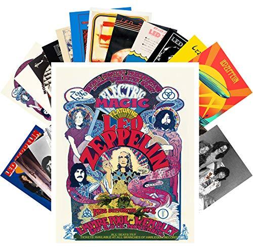 Postkarten-Set 24 Karten LED ZEPPELIN Rock Musik Poster Fotos Vintage Magazin Cover