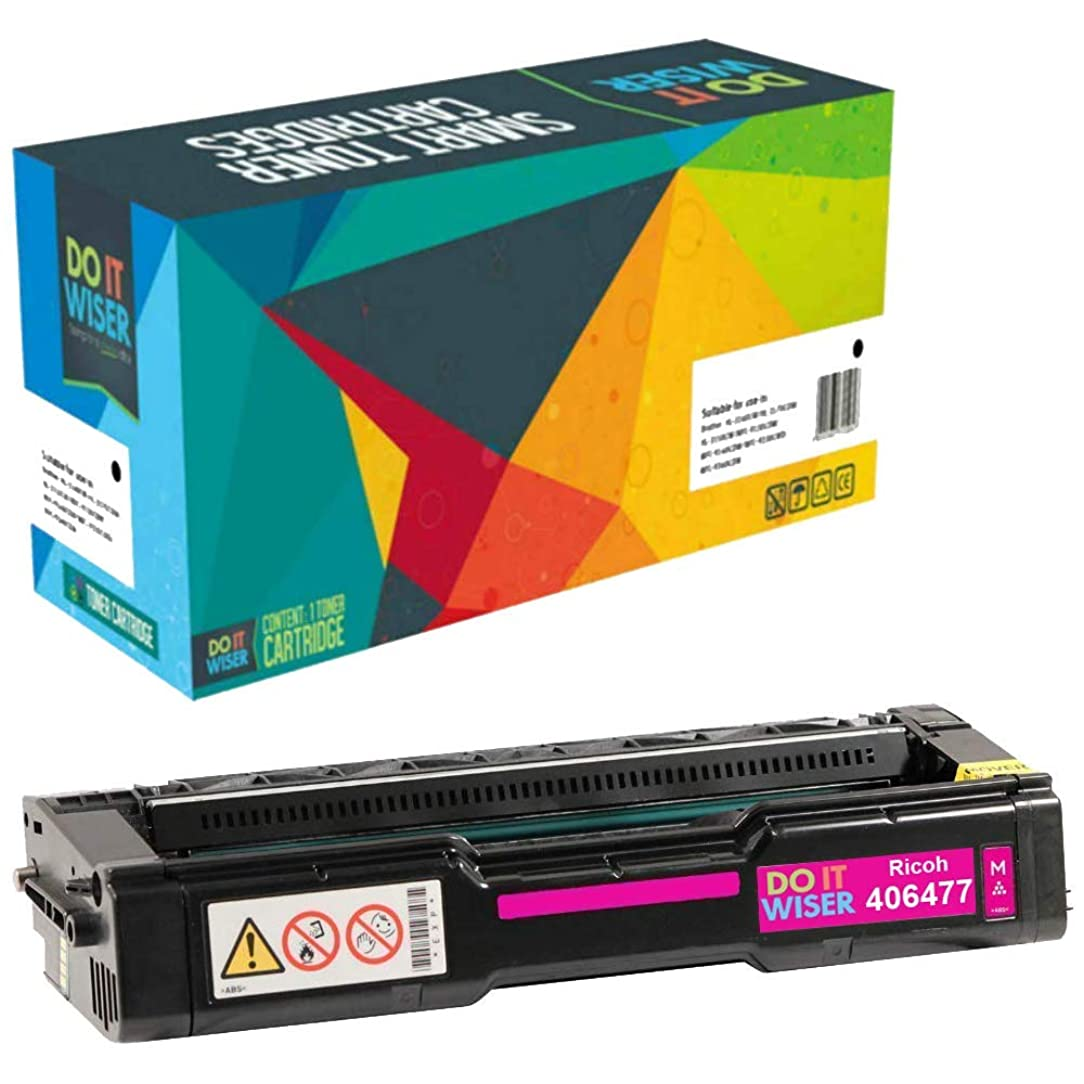 Do it Wiser Compatible Magenta Toner Cartridge for Ricoh Aficio SP C231N SP C231SF SP C232DN SP C232SF SP C242DN SP C242SF SP C310 SP C310A SP C311N SP C312DN SP C320DN - 406477-6,000 Pages