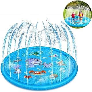 con picchetto per Bambini a Partire dai 3 Anni Idena- Divertimento in Acqua con Bruco Multicolore Basta collegarlo al Tubo da Giardino 40160 irrigatore Circa 41 cm