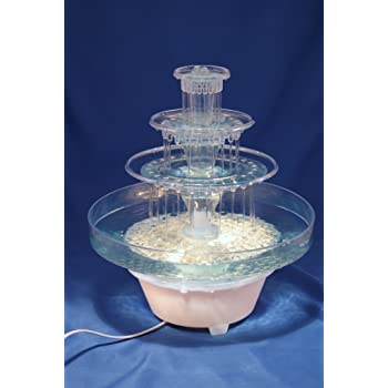 Wilton Fanci Flow Tabletop Fountain for Weddings Clear 306-1147 Holidays and any Celebration where Friends and Family Gather Togethers Birthdays