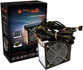 Talius Fuente 600W PFC pasivo, Ventilador 12cm, Cables mallados, Color Negro