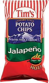 Tim's Cascade Style Potato Chips, Jalapeno, 2 Ounce (Pack of 36)