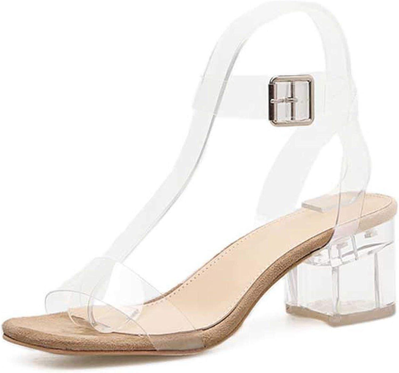 Flat Sandals PVC Jelly Sandals Crystal Leopard Open Toed High Heels Women Transparent Heel Sandals