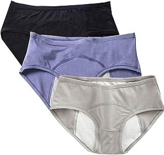 سراويل داخلية قطنية للمراهقين فترة الحيض شديد التدفق لدى للبنات مانعة للتسرب ملابس داخلية عصرية للنساء بعد الولادة 3 قطع