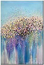 HIMAmonkey 100/% Pintura Al /óLeo Pintado A Mano Cuadros Abstractos Modernos Arbol Arte de Pared sobre Lienzo Estirada y Enmarcado decoraci/ón Listo para Colgar,16*16 40 * 40cm