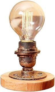 XAJGW Lámpara de Mesa Lámpara de Mesa Vintage Lámpara de Escritorio Industrial de Hierro Forjado con Interruptor de atenua...