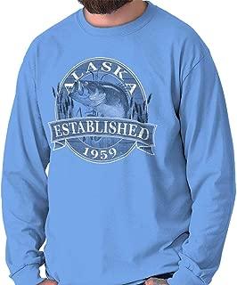 Classic Teaze Alaska Fishing Outdoor Wildlife Fisherman Long Sleeve Tee