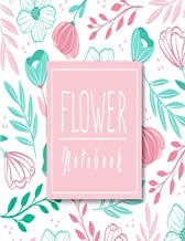 Flower Notebook: flowers background in hand drawn style