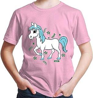 Hariz - Camiseta de manga corta para niño, diseño de caballo y poni