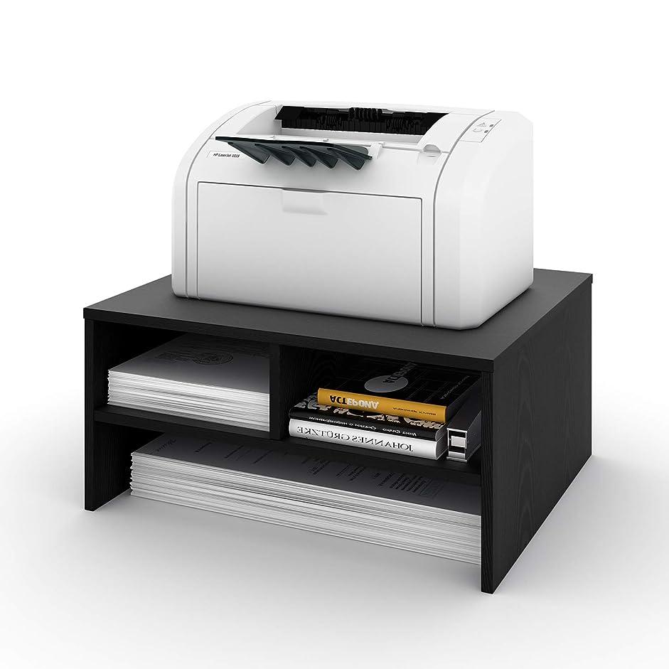 まで製造威するDEVAISE プリンター台 プリンタ台 卓上 机上 収納 幅478*奥行398*高さ226mm プリンタの下に用紙やインクを収納可 木製 WH0046A