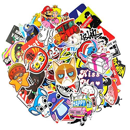 Aufkleber Pack [100-pcs] Graffiti Sticker Decals Vinyls für Laptop, Kinder, Autos, Motorrad, Fahrrad, Skateboard Gepäck, Bumper Sticker Hippie Aufkleber Bomb wasserdicht (Sticker-9)