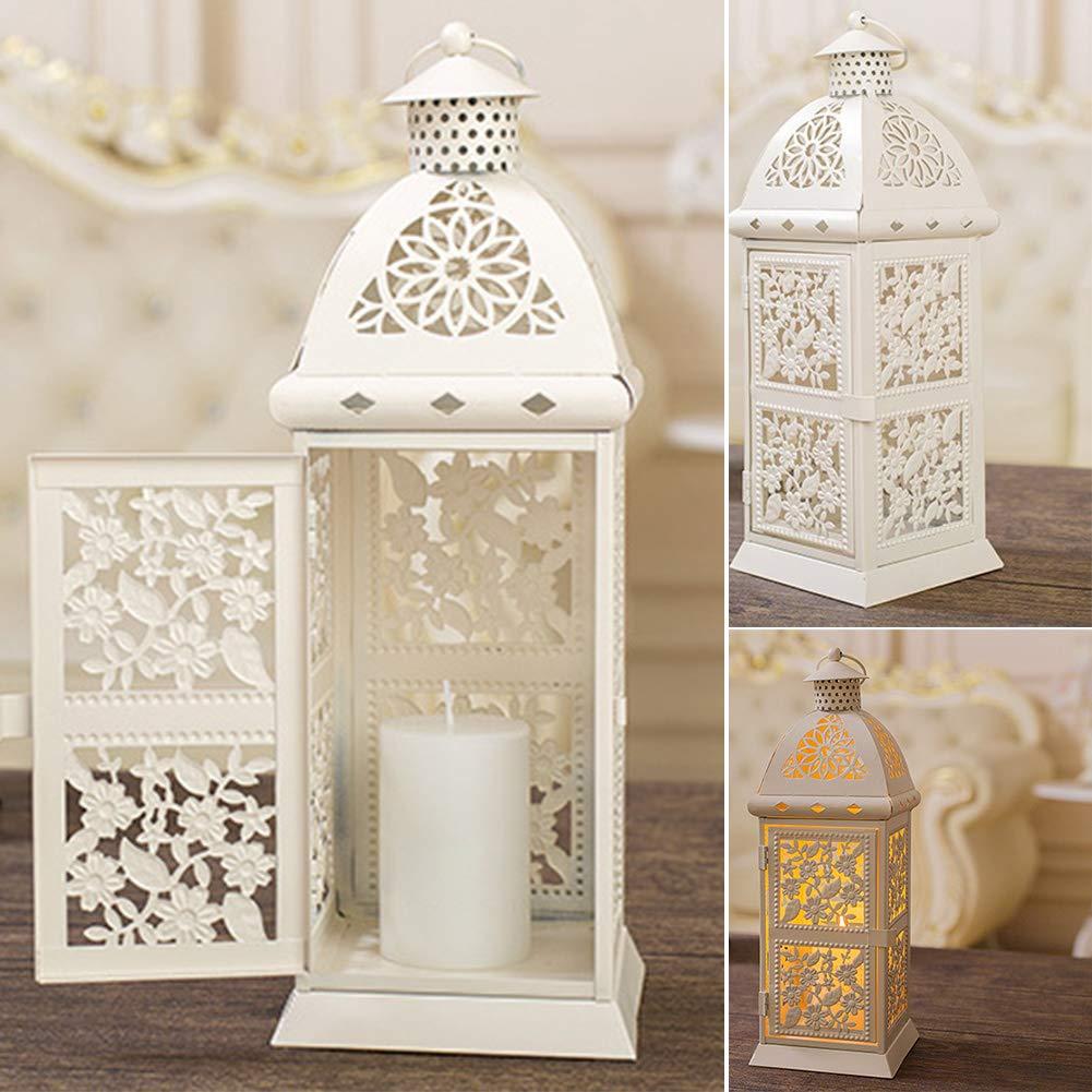 WOOPOWER Candelabro de Estilo marroquí, candelabros Colgantes de Estilo Turco para jardín Interior Candelabros para Patio, Interior/Exterior, Eventos, Fiestas y Bodas: Amazon.es: Hogar
