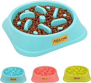 AOLOVE Slow Feeder Bowl Healthy Food Fun Anti-Choke Pet Bowls for Dog