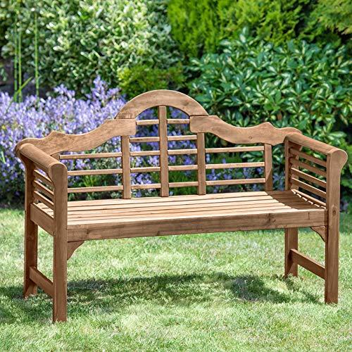 Plant Theatre - Banc de jardin de style Luytens en bois dur - Superbe qualité