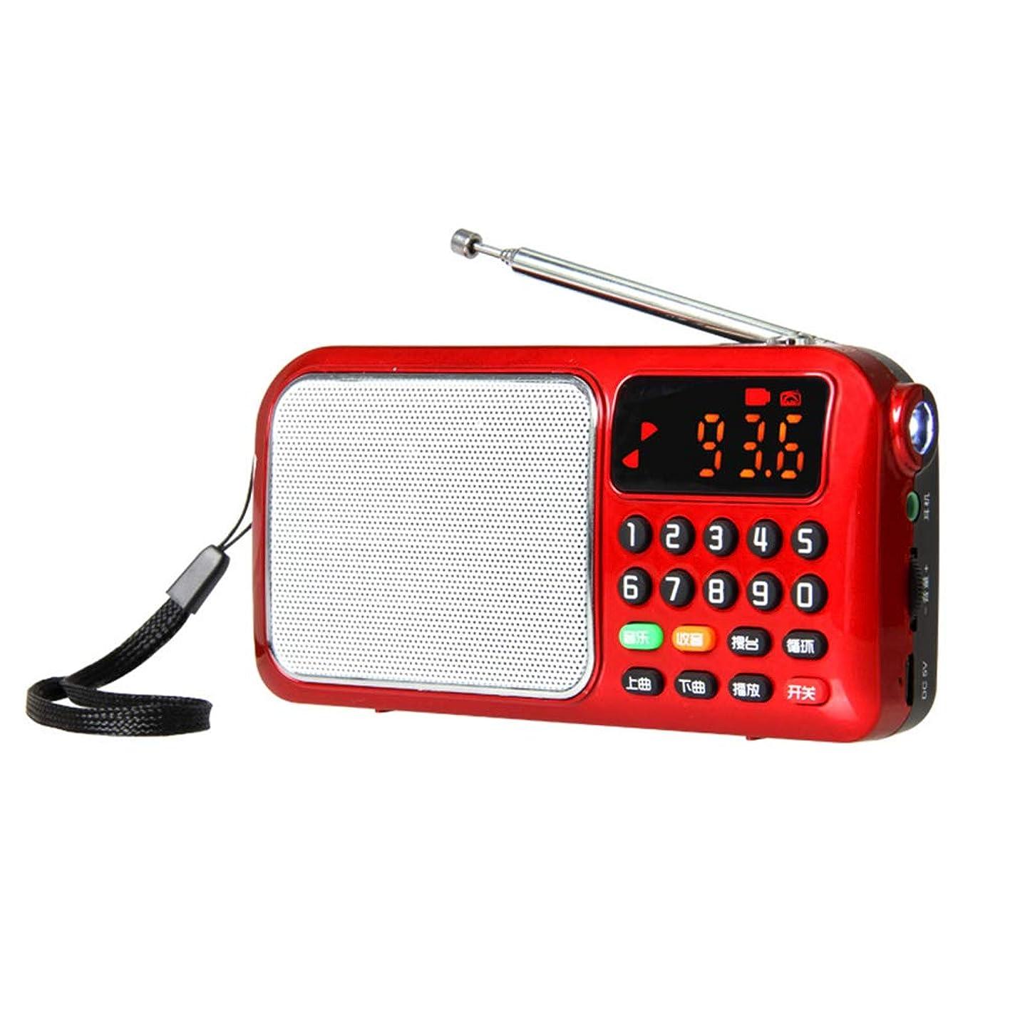 ウォーターフロントアルファベット順フェデレーションポータブルミニラジオ、MP3音楽プレーヤーカードスピーカー、サポートUSB/TFカード再生、ワンボタンサイクル、ワンボタンサーチ、LED照明ZDDAB