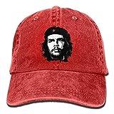 DAIAII Hombre Mujer Gorras de béisbol, Cowboy Hat Cap Men Women Communist Fighter Che Guevara Red