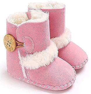 033 Stivali Invernali per Bambino, Unisex Neonato Carino Suola Antiscivolo Stivali Scarpe in Cotone Bambina Stivali da Bam...