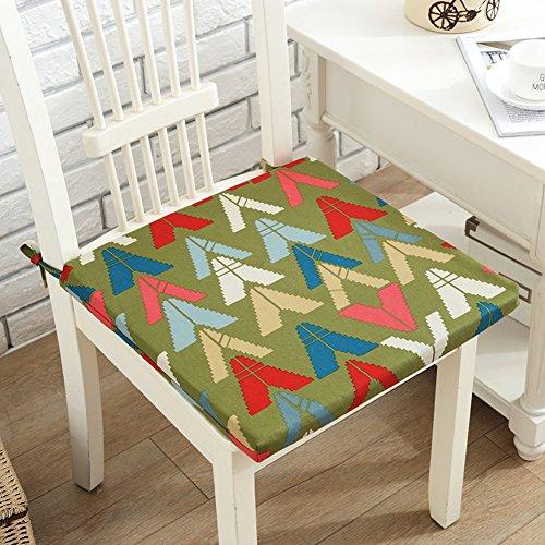 xinping Chair Pads Chaise Pad Coussin pour Chaise de Bureau géométrique Lattice éponge Coussin, D, 42x40cm(17x16inch)