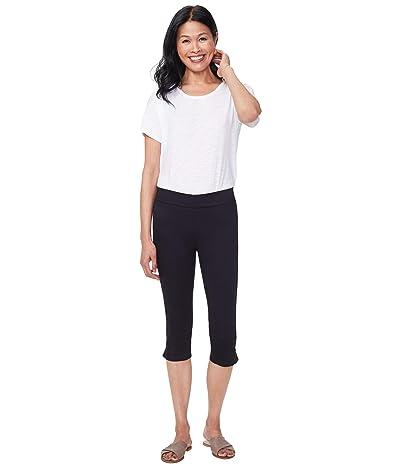 NYDJ Skinny Pull-On Capri Jeans in Black (Black) Women