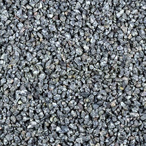 Zierkies 25 kg 5-8 mm Granit Splitt Hellgrau Aquarium Garten Weg Kies Steinteppich