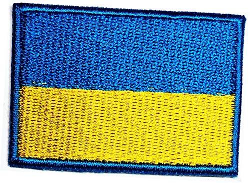 Ukraine-Flagge Patch Mini 3,1 x 4,7 cm Ukraine Länderflagge Taktisch Militär bestickt Patch Weltflaggen Aufkleber Stickerei Handwerk Aufbügeln auf Nähen Logo Jacke Polo T-Shirt Hut Rucksäcke (02)