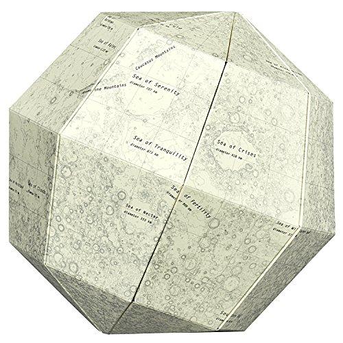 ジオグラフィア 月球儀 組立式 ブランク SGBS-M