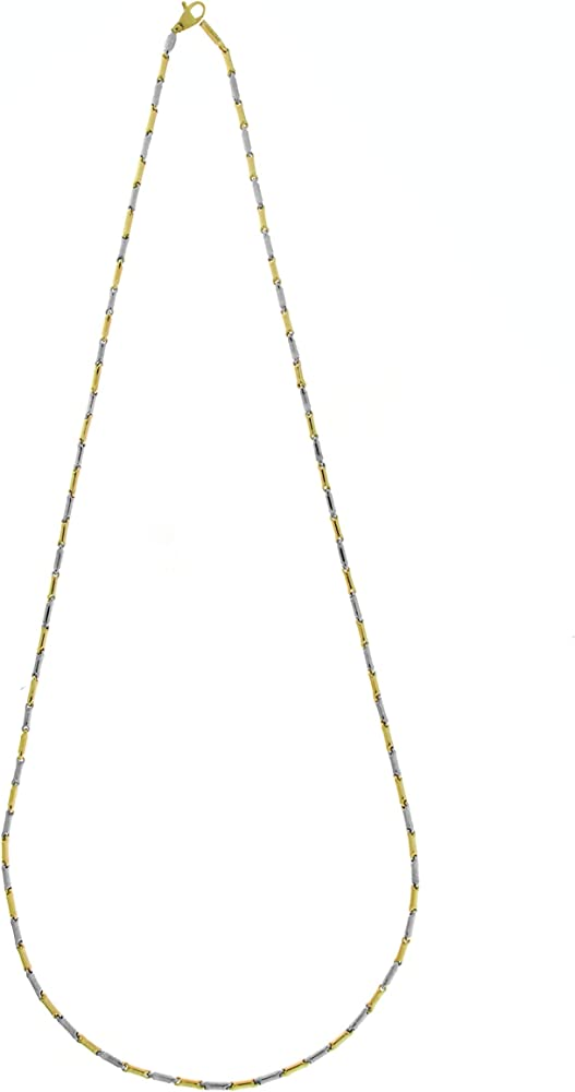 Chimento,collana per uomo, in oro bianco e oro giallo 18 kt/750(7,20 gr)della collezione bambo 1G02650ZZ2500