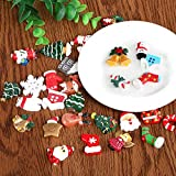 Kesote 30 Stück Mini Weihnachten Deko DIY Zubehör Kunstharz Miniatur Klein Figur - 6