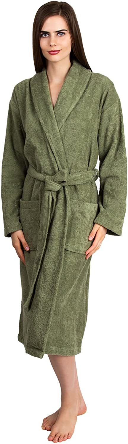 TowelSelections Turkish Cotton Bathrobe Terry Shawl Robe Made in Turkey