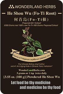 Prepared Fo-Ti (fleeceflower) Root He Shou Wu Extract 1:23 Powder 3.5 Oz, [ Fallopia/Polygonum multiflora ] Hyperconcentra...
