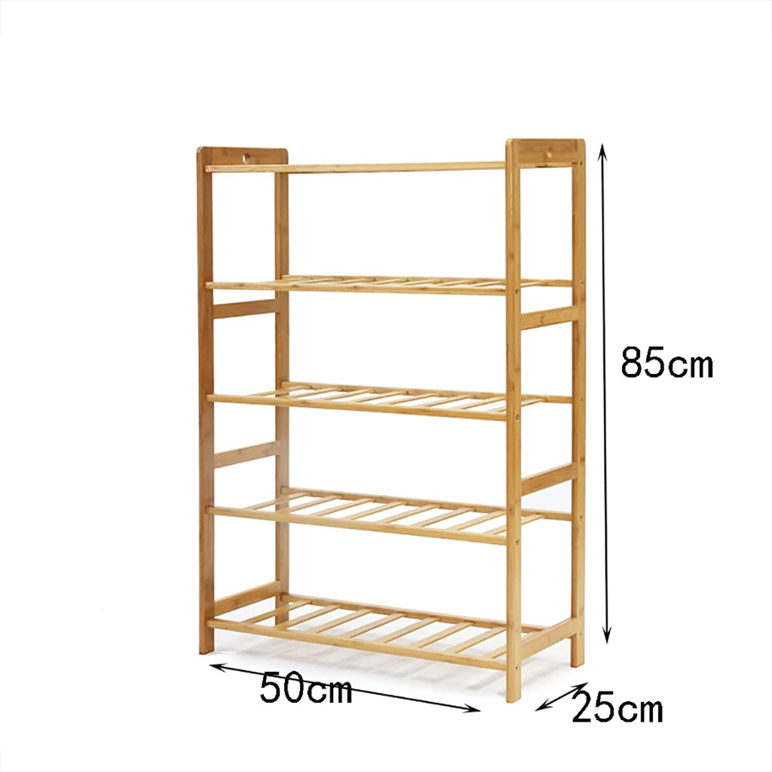 shoes Bench Organizing Rack shoes Racks Bamboo shoes Shelves Flat shoes Display Stand Home Door shoes Rack Solid Wood shoes Cabinet (color   D, Size   50cm)