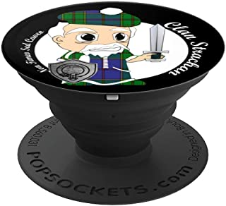 Strachan surname last name Scottish Clan tartan badge crest PopSockets Grip and Stand for Phones and Tablets