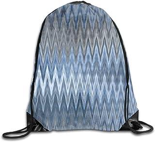 Bolsas de cuerdas Mochila de Cuerdas Patrón ondulado de moda azul marino para picnic, gimnasio, deporte, playa, yoga Gym S...