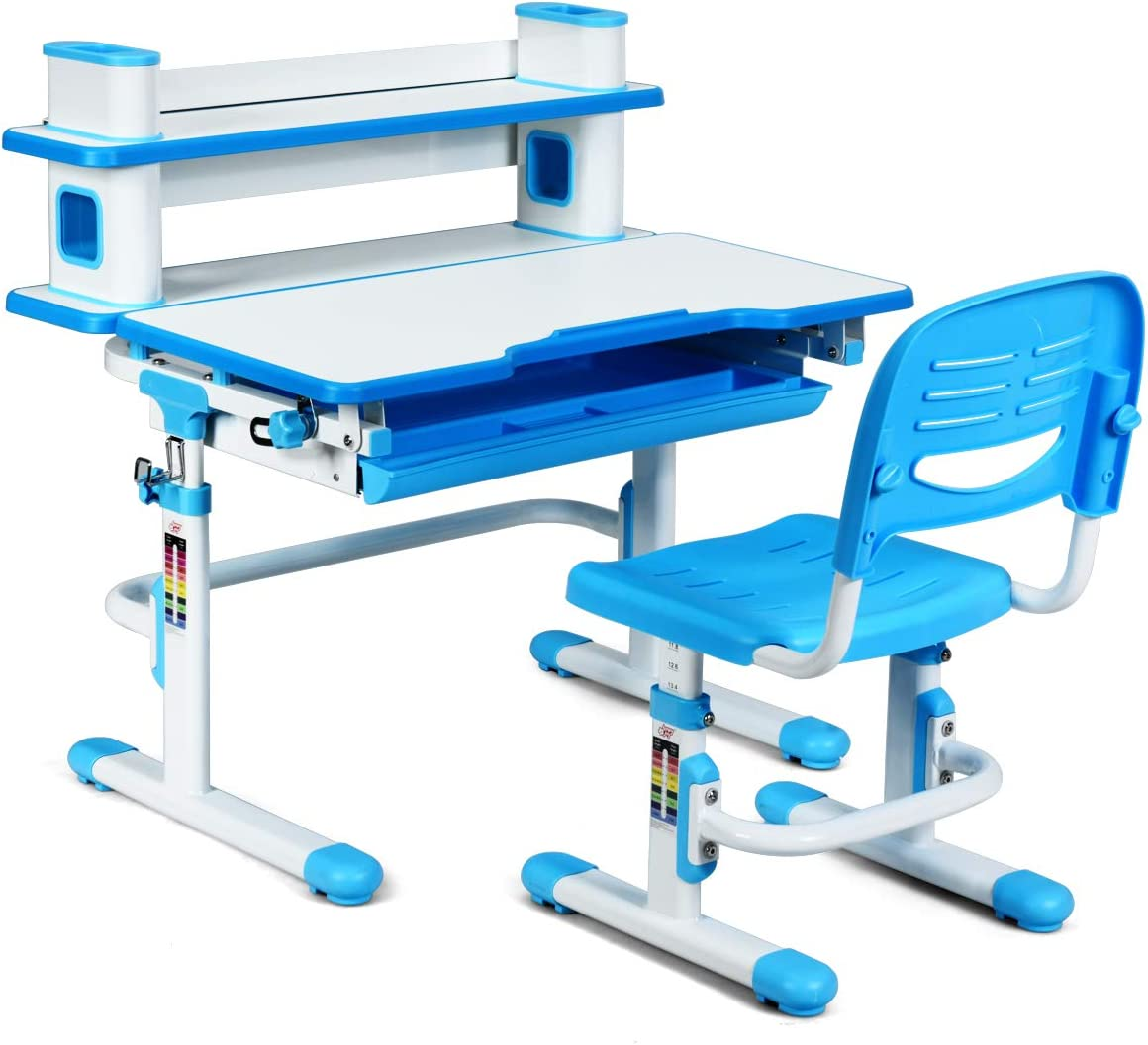 HONEY JOY Kids Desk and Chair Don't miss the campaign Wr Set Children Adjustable NEW before selling Height