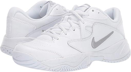 White/Metallic Silver/White