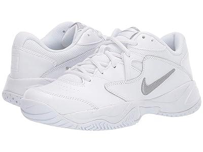 Nike Court Lite 2 (White/Metallic Silver/White) Women