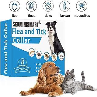 SEGMINISMART Collar Antiparasitos para Perro,Collar antipulgas y garrapatas para Perros y Gatos,Grandes contra Pulgas, Garrapatas y Mosquitos,Tamaño Ajustable e Impermeable