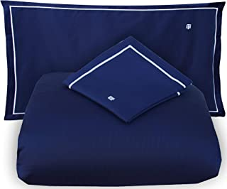 juego de sábanas para cama de Matrimonio DOS 2plazas Tommy Hilfiger RASO Satin 110HILOS sábana Encimera + 2fundas de almohada (excepto sábana bajera) navy