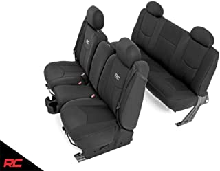 Rough Country Neoprene Seat Covers Sets Black Fits 1999-2006 [ Chevy ] Silverado 1500 Water Resistant Front/Rear 91019