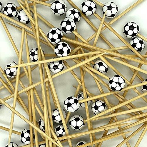 4MA - Pinchos para fiesta de fútbol, palillos de cóctel (30 unidades)