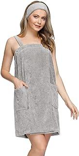 Zexxxy Women's Silky Nightgown Comfy Sleep Dress Midi Slip