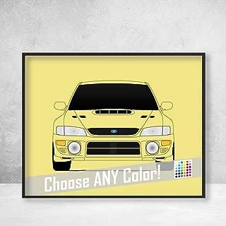 Subaru WRX Impreza G1 First Generation (1992-2000) Poster Print Wall Art Decor Handmade GC8 gc gf gm N Series