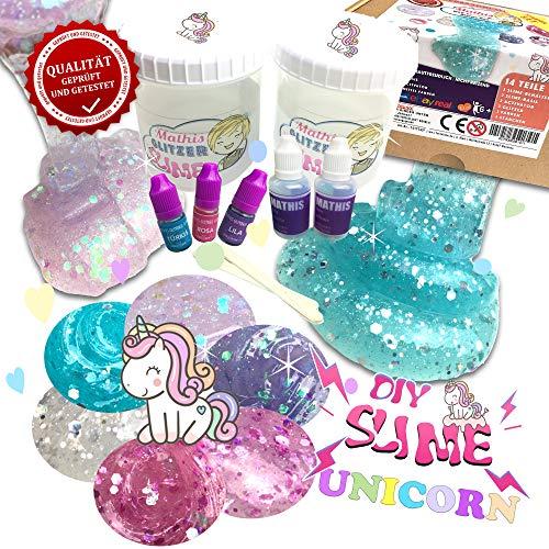 Mathis DIY Unicorn Slime Set 🦄💖 Schleim selber Machen 💕 Einhorn Schleim Kit für Mädchen