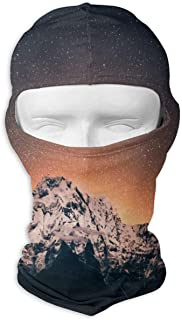 ZHOUSUN Starry Sky Over Himalayan Mountains Full Face Masks UV Balaclava Protection Ski Sports Cap Motorcycle Neck Warmer Tactical Hood for Cycling Outdoor Sports Snowboard Women Men Youth