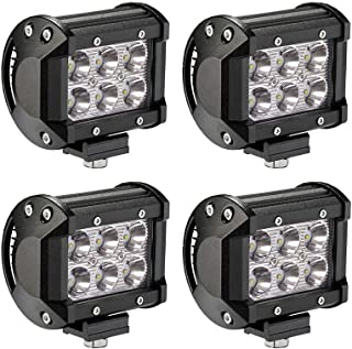 Northpole Light 4X18W Spot Led Work Pods Driving Fog Road Lights for ATV SUV UTE Jeep Pickup Truck, 4 Pack
